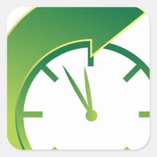 Clock Forward Arrow Time Icon Square Sticker