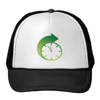 Clock Forward Arrow Time Icon Trucker Hat