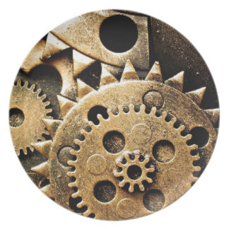 Clock Gears Party Plates