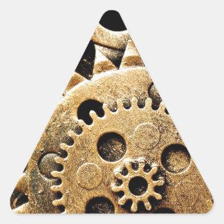 Clock Gears Triangle Sticker