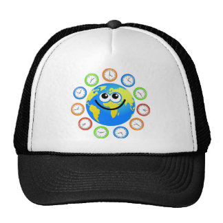 Clock Globe Trucker Hat