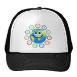 Clock Globe Trucker Hats