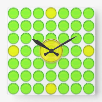 Clock - Green and Yellow dots