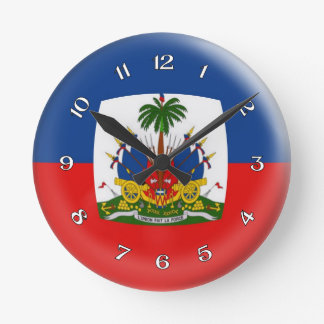 Clock Haiti Haitian flag Bubble Design