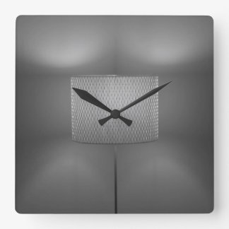 CLOCK IN BLACK AND WHITE - ABSTRACT  LAMPLIGHT