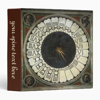 Clock in the Duomo by Paolo Uccello Vinyl Binder