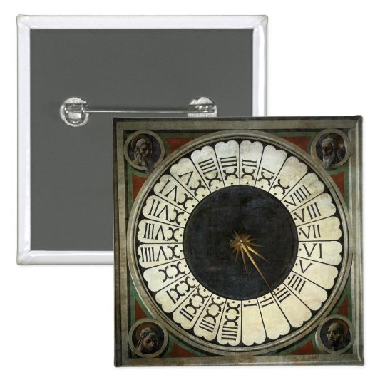 Clock in the Duomo by Paolo Uccello Button
