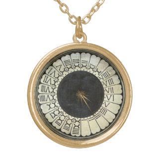 Clock in the Duomo by Paolo Uccello Gold Plated Necklace