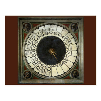 Clock in the Duomo by Paolo Uccello Postcard