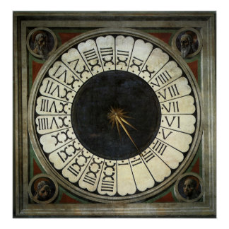 Clock in the Duomo by Paolo Uccello Poster