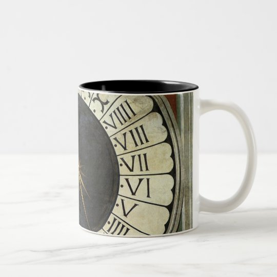 Clock in the Duomo by Paolo Uccello Two-Tone Coffee Mug