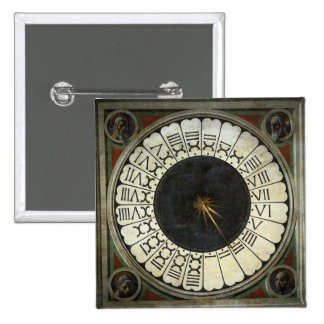 Clock in the Duomo by Uccello, Renaissance Art Pinback Buttons