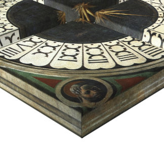 Clock in the Duomo by Uccello, Renaissance Art Gallery Wrap Canvas