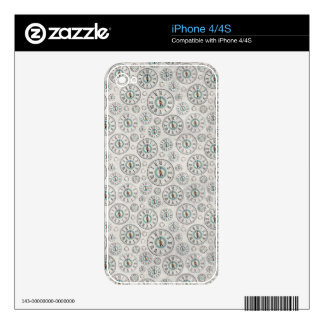 Clock iPhone 4 Case Decals For The iPhone 4S