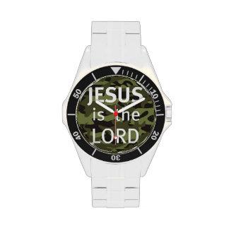 "Clock ""JESUS IS the LORD "" Wristwatch"