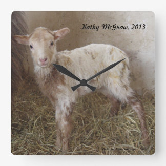 Clock: lamb KathyMcGraw