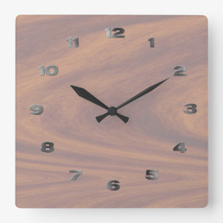 Clock - Lightened Woodgrain with metal numbers