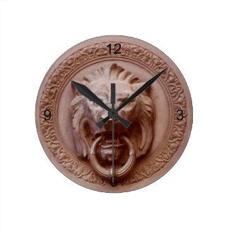 clock - Lion head door knob