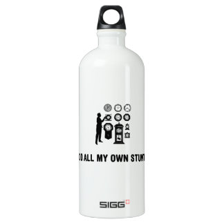 Clock Lover Aluminum Water Bottle