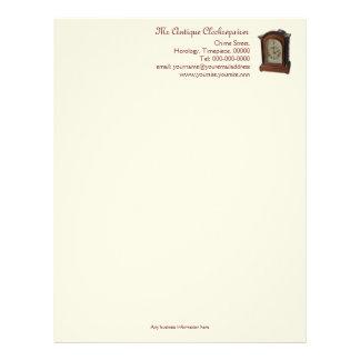 Clock maker or repairer's business letterhead
