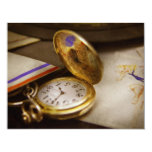 "Clock Maker - Time never waits 4.25"" X 5.5"" Invitation Card"
