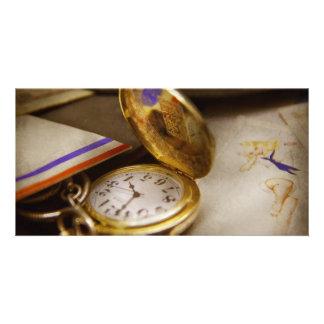 Clock Maker - Time never waits Customized Photo Card