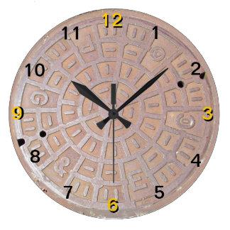 Clock - Manhole cover