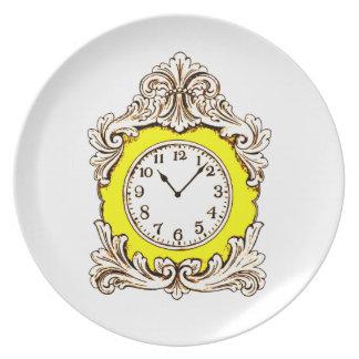 Clock Melamine Plate