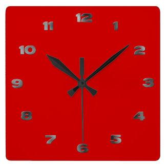 Clock - Metal Arabic Numbers