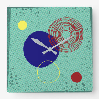 Clock mural turquoise funds