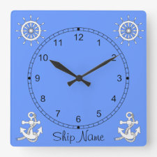Clock - Nautical theme