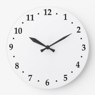 Clock Number Face Template Use Your Design