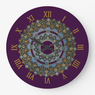 CLOCK NUMBERS GOLDEN WITH PERSIAN ART