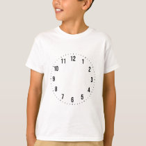 Clock Numbers Numerals Design Pattern T-Shirt