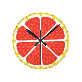 Clock of grapefruit