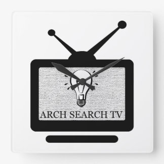 Clock of wall Arch Squared Search TV