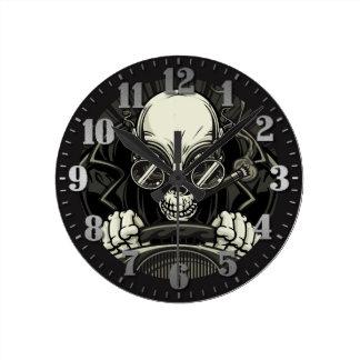 """Clock of wall """"motorcyclist Skull """""""