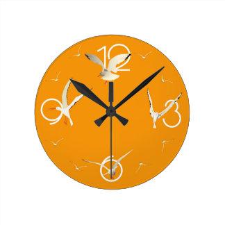 clock orange gull
