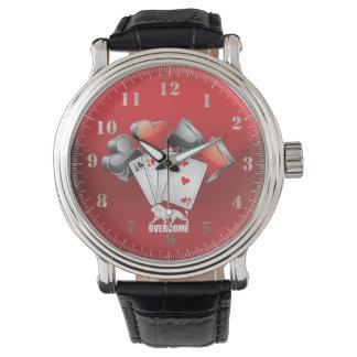 Clock overcome wristwatch