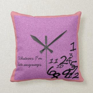 Clock Pillow