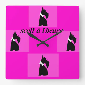 clock pink