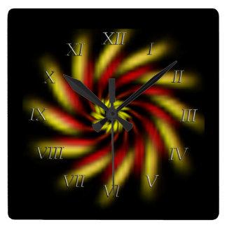 Clock - Pinwheel on Black