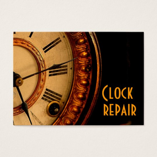 Clock repair business card