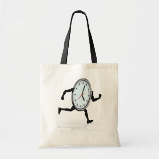 Clock Running Tote Bag