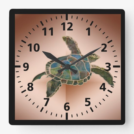 Clock - Sea Turtle