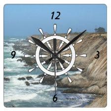 Clock - Ships helm