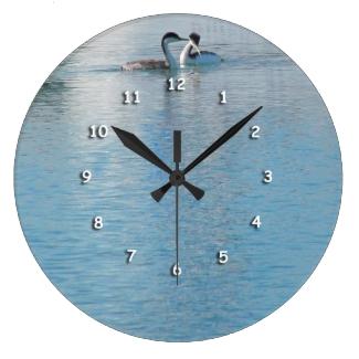 Clock - Shore Birds in Harbor