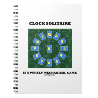 Clock Solitaire Is A Purely Mechanical Game Spiral Note Books