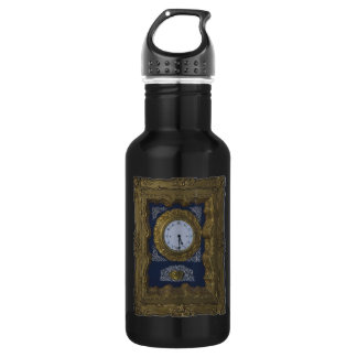 clock stainless steel water bottle