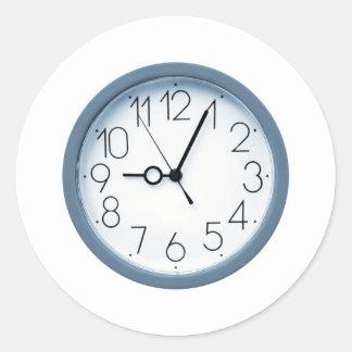 Clock Round Stickers